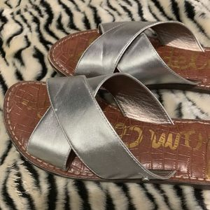 Sam Edelman Shoes - Silver Sam Edelman Slide Sandals
